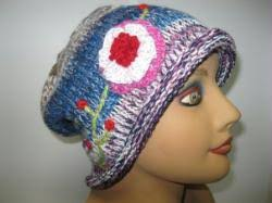 COLORFUL HAT WITH FLOWER-05pack